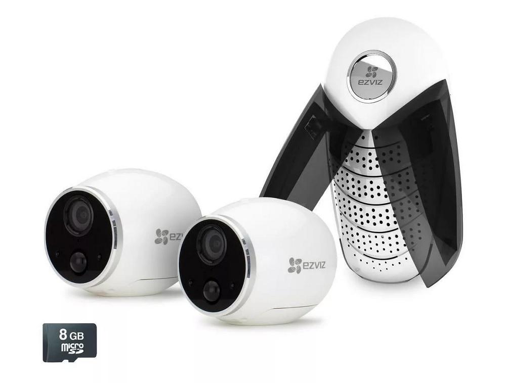 Система видеонаблюдения Ezviz Комплект видеонаблюдения Mini Trooper набор (CS-W2S-EUP-B2) камера видеонаблюдения ezviz mini plus white