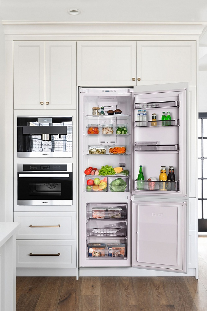 Холодильник Maunfeld MBF. 177NFW, серебристый Maunfeld