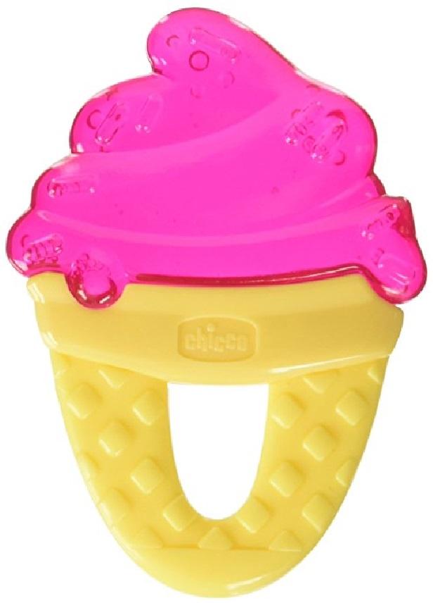 Погремушка Chicco Мороженое (охлаждающий) желтый, розовый chicco прорезыватель игрушка fresh relax мороженое желтое 4 мес