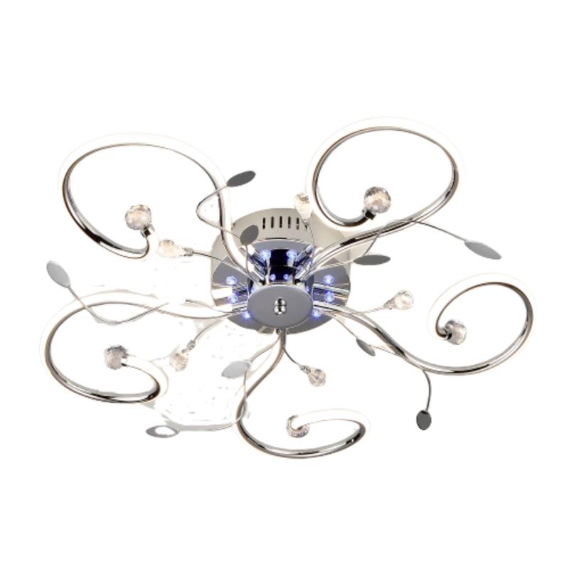 Потолочный светильник EUROSVET 90129/5 хром, LED, 55 Вт
