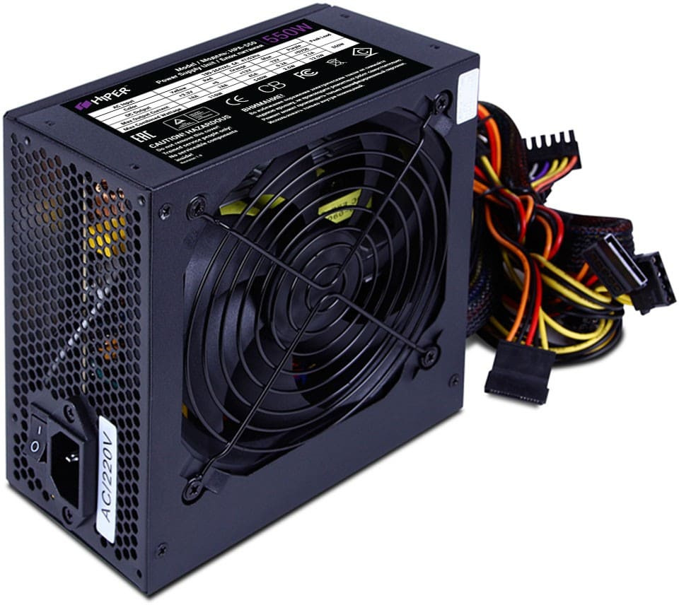 Фото - Блок питания компьютера Hiper HPA-550 блок питания accord atx 1000w gold acc 1000w 80g 80 gold 24 8 4 4pin apfc 140mm fan 7xsata rtl
