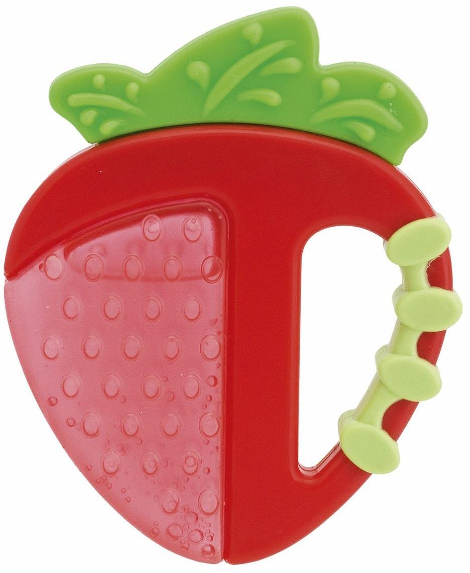 Погремушка Chicco Fresh Relax Фрукты, Клубничка красный chicco прорезыватель игрушка fresh relax мороженое желтое 4 мес