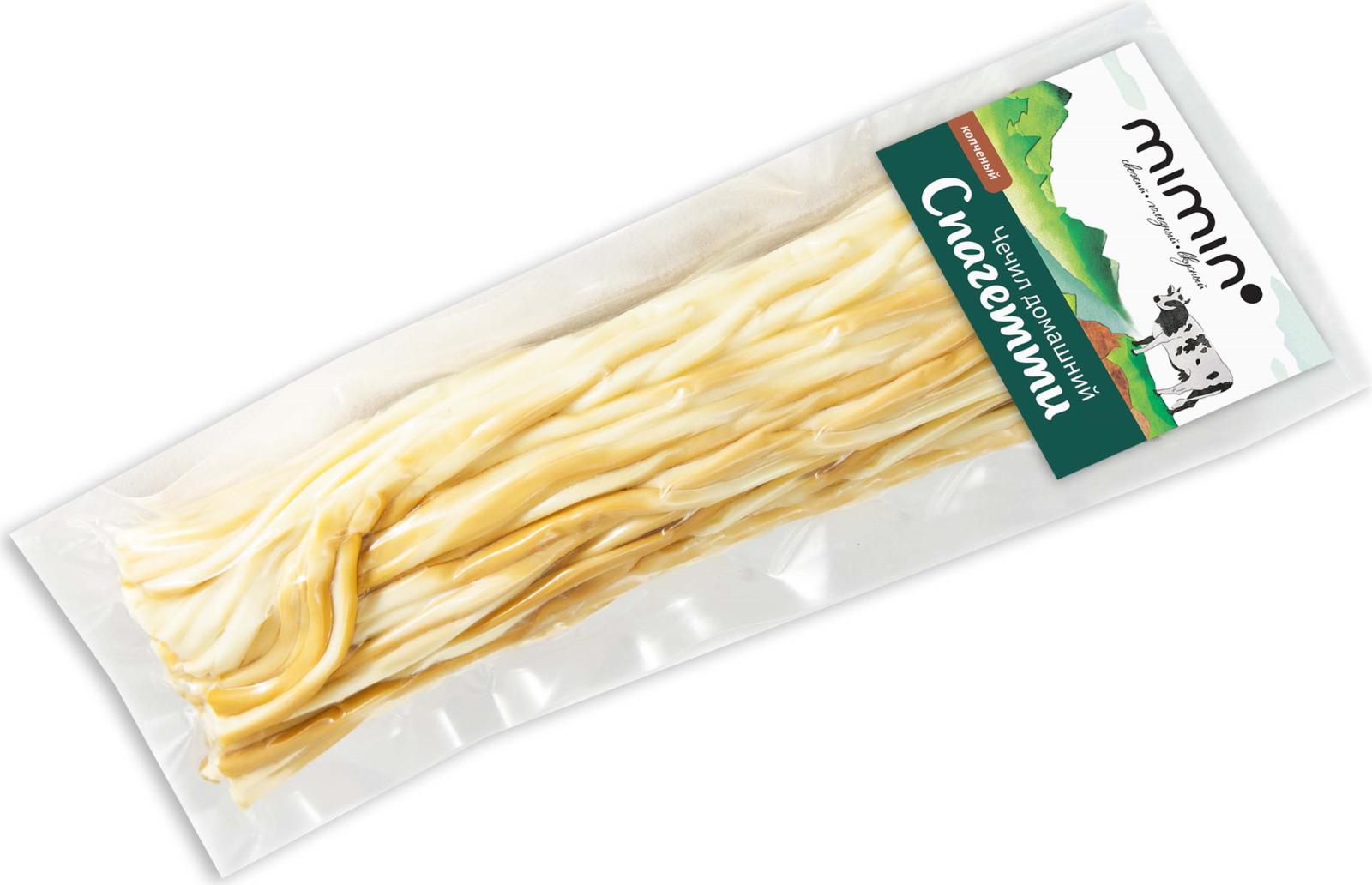 Сыр Mimin Чечил-Спагетти домашний, копченый, 40%, 70 г