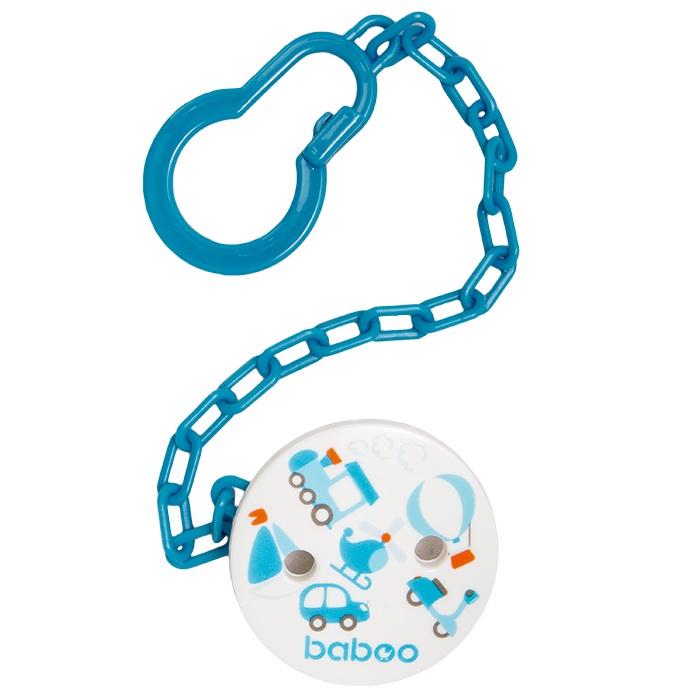 Держатель соски-пустышки BABOO Transport синий держатель для пустышек nuby на липучке