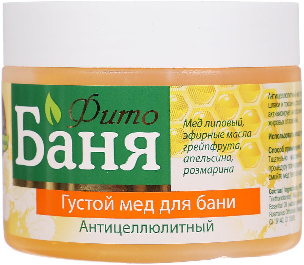 Мед для бани Русское Поле Фито-Баня, антицеллюлитный, 300 мл Русское Поле