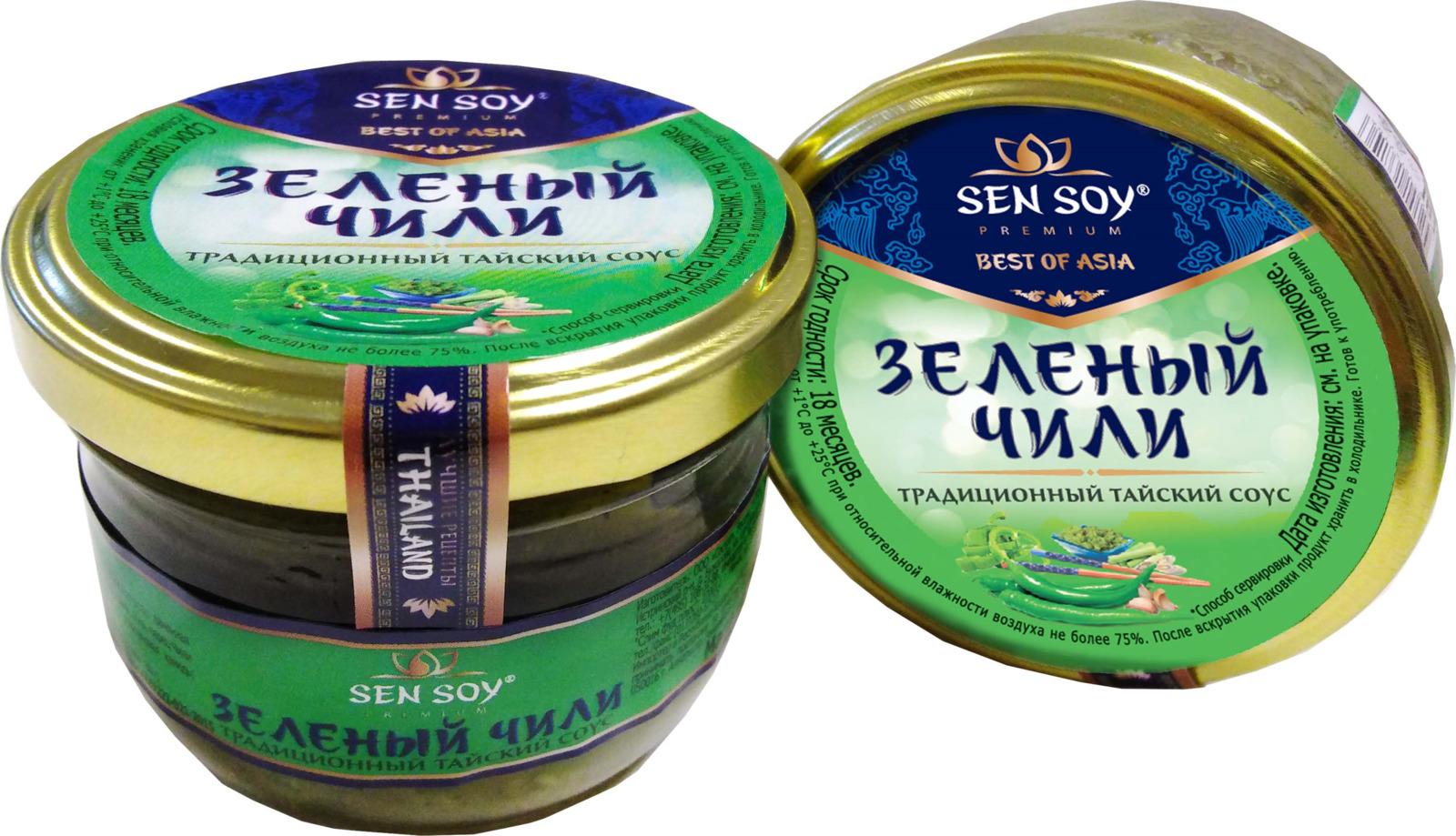 Соус Sen Soy Зеленый чили, 100 г