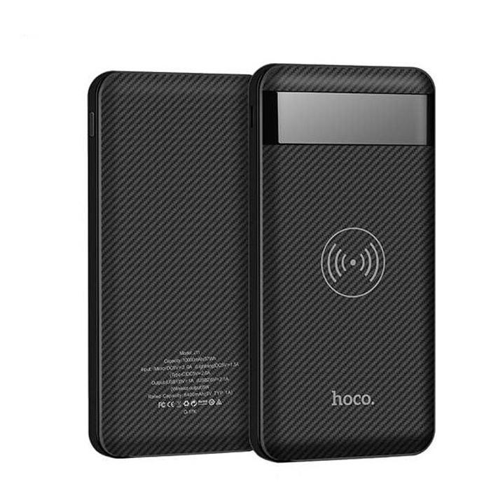 Внешний аккумулятор Hoco Power Bank J11 Astute wireless (беспроводной) 10000 mAh черный