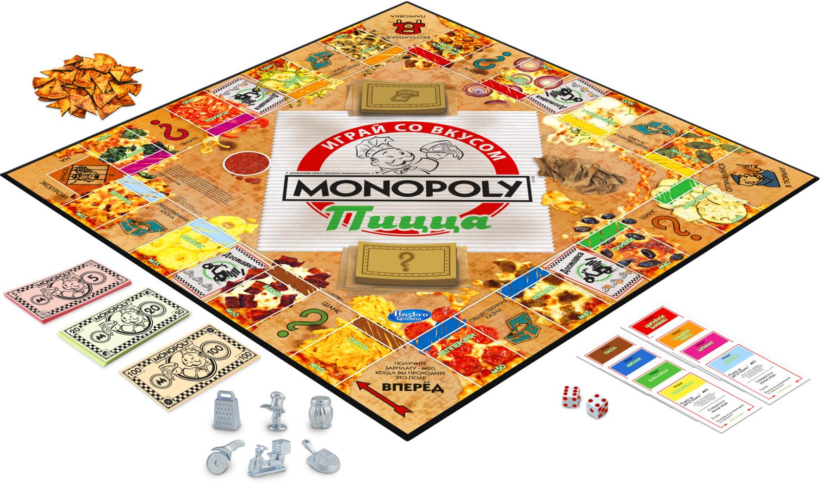 Настольная игра Monopoly Пицца, E5798121 игра настольная юный повар пицца 20х3 5х24 5см