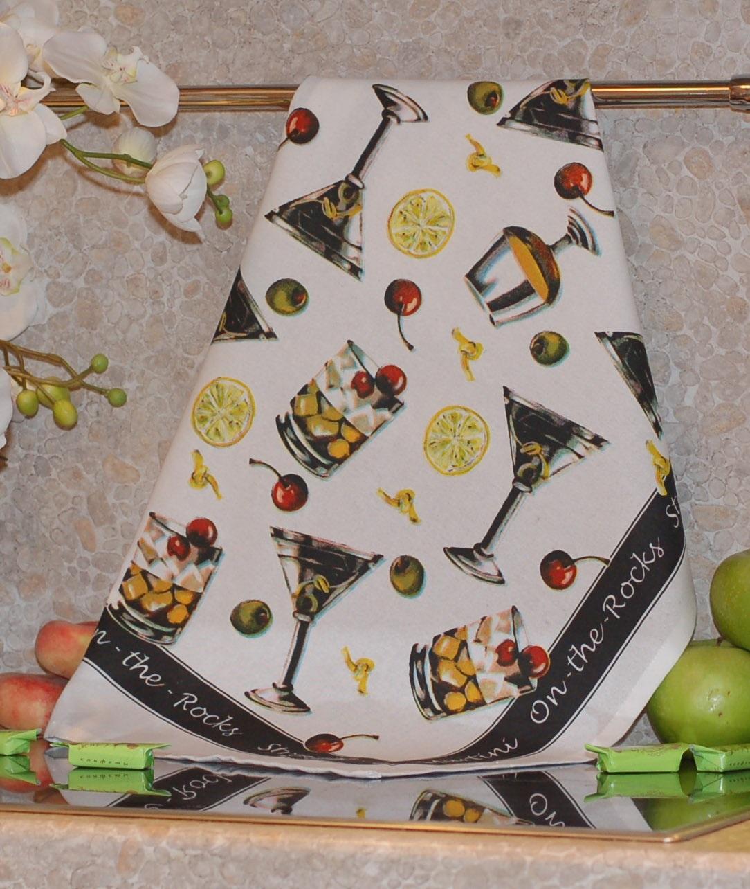 Полотенце с печатным рисунком ТекСтиль 507042-7 COCKTAIL полотенце кухонное текстиль для дома 507061 1 cafе коричневый бежевый красный