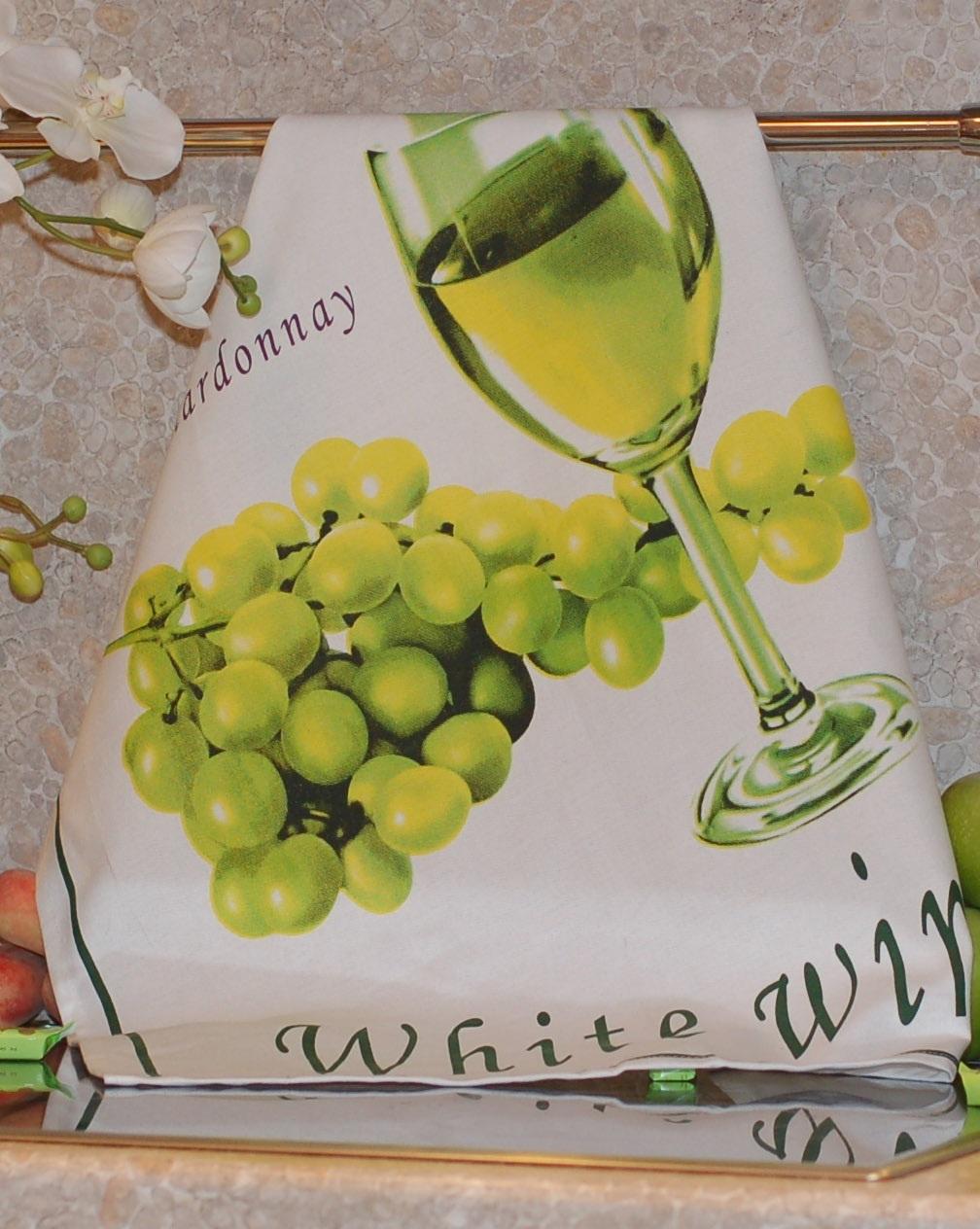 Полотенце с печатным рисунком ТекСтиль 507042-6 WHITE WINE полотенце кухонное текстиль для дома 507061 1 cafе коричневый бежевый красный