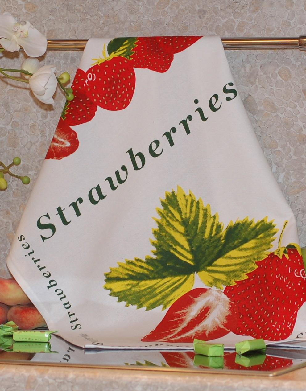 Полотенце с печатным рисунком ТекСтиль 507042-4 STRAWBERRIES полотенце кухонное текстиль для дома 507061 1 cafе коричневый бежевый красный
