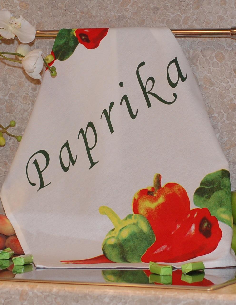 Полотенце с печатным рисунком ТекСтиль 507042-3 PAPRIKA полотенце кухонное текстиль для дома 507061 1 cafе коричневый бежевый красный