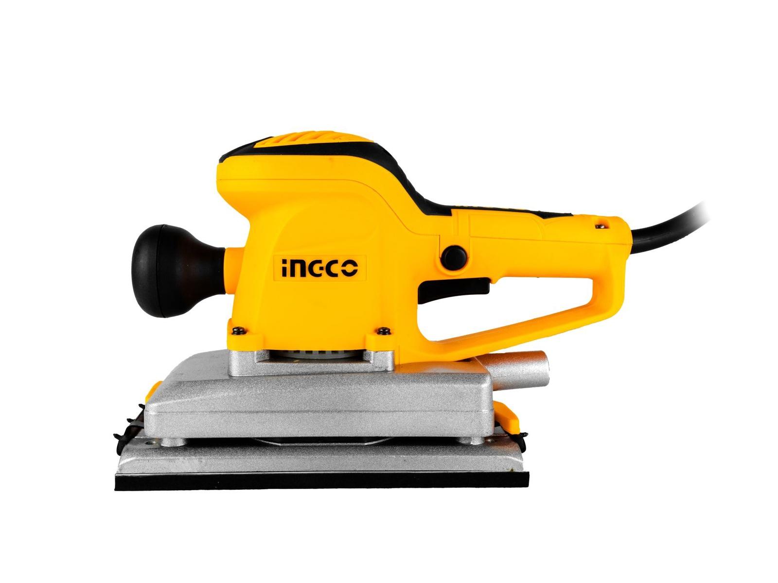 Шлифмашина вибрационная INGCO FS35028 INDUSTRIAL, 350Вт, 11000об/мин, 220*110мм, оснастка машина шлифовальная вибрационная stomer sfs 223
