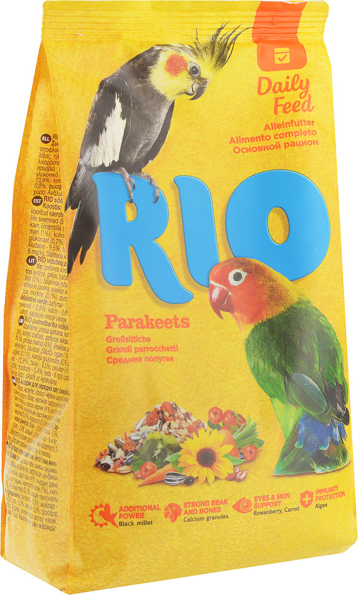 цена на Корм для средних попугаев Rio Основной рацион, 500 г