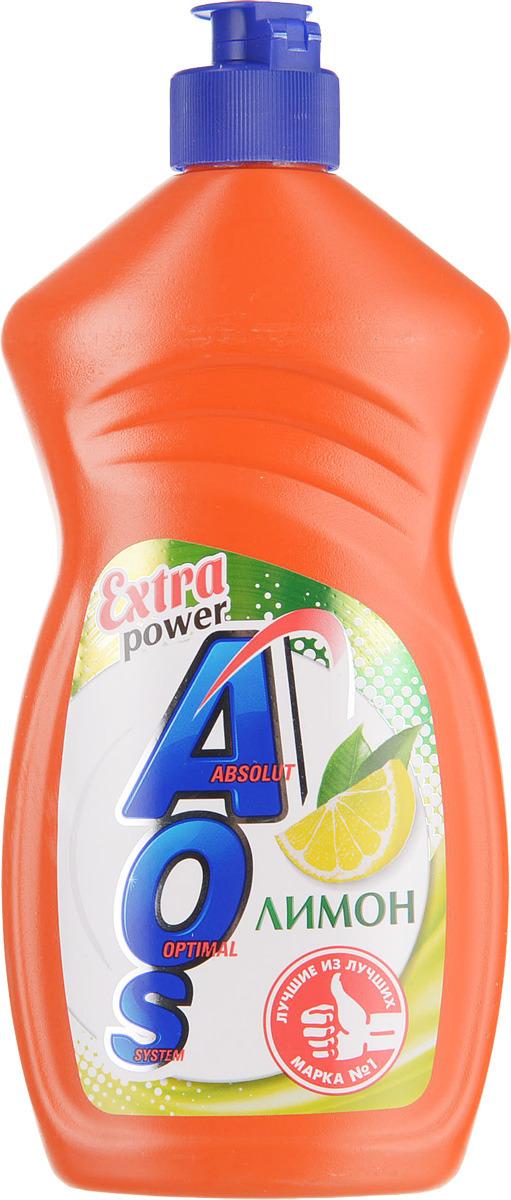 Жидкость для мытья посуды AOS Лимон, 500 мл средство для мытья посуды aos 450 мл бальзам 2в1 в ассорт