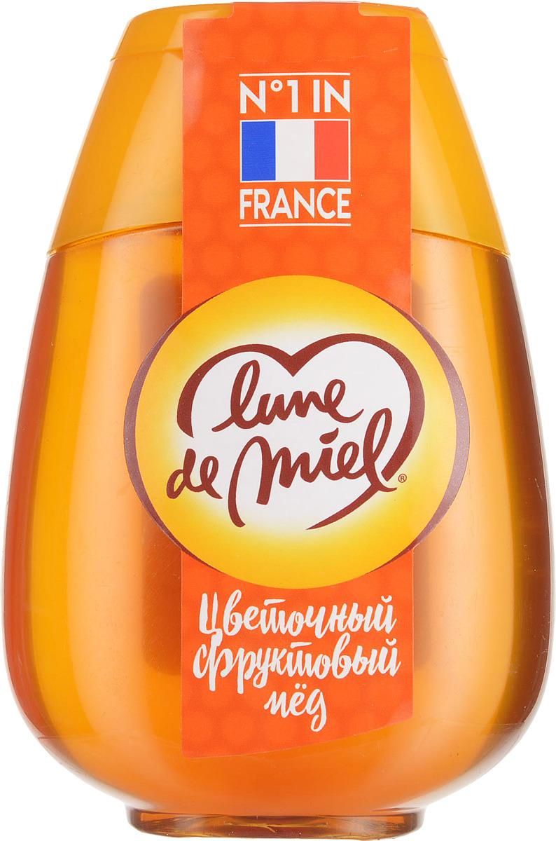 Lune de Miel Цветочный фруктовый мед, диспенсер с дозатором, 340 г мед акации с кэробом royal forest 250г