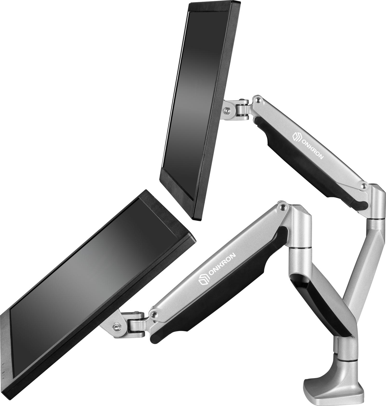 Крепление для монитора ONKRON G200S, серебристый