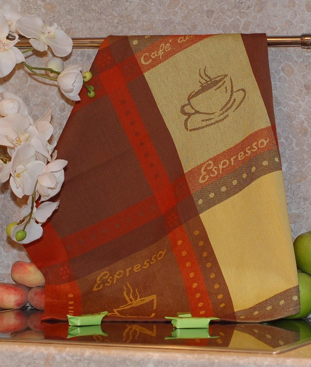 Полотенце жаккардовое ТекСтиль 507061-2 ESPRESSO полотенце кухонное текстиль для дома 507061 1 cafе коричневый бежевый красный
