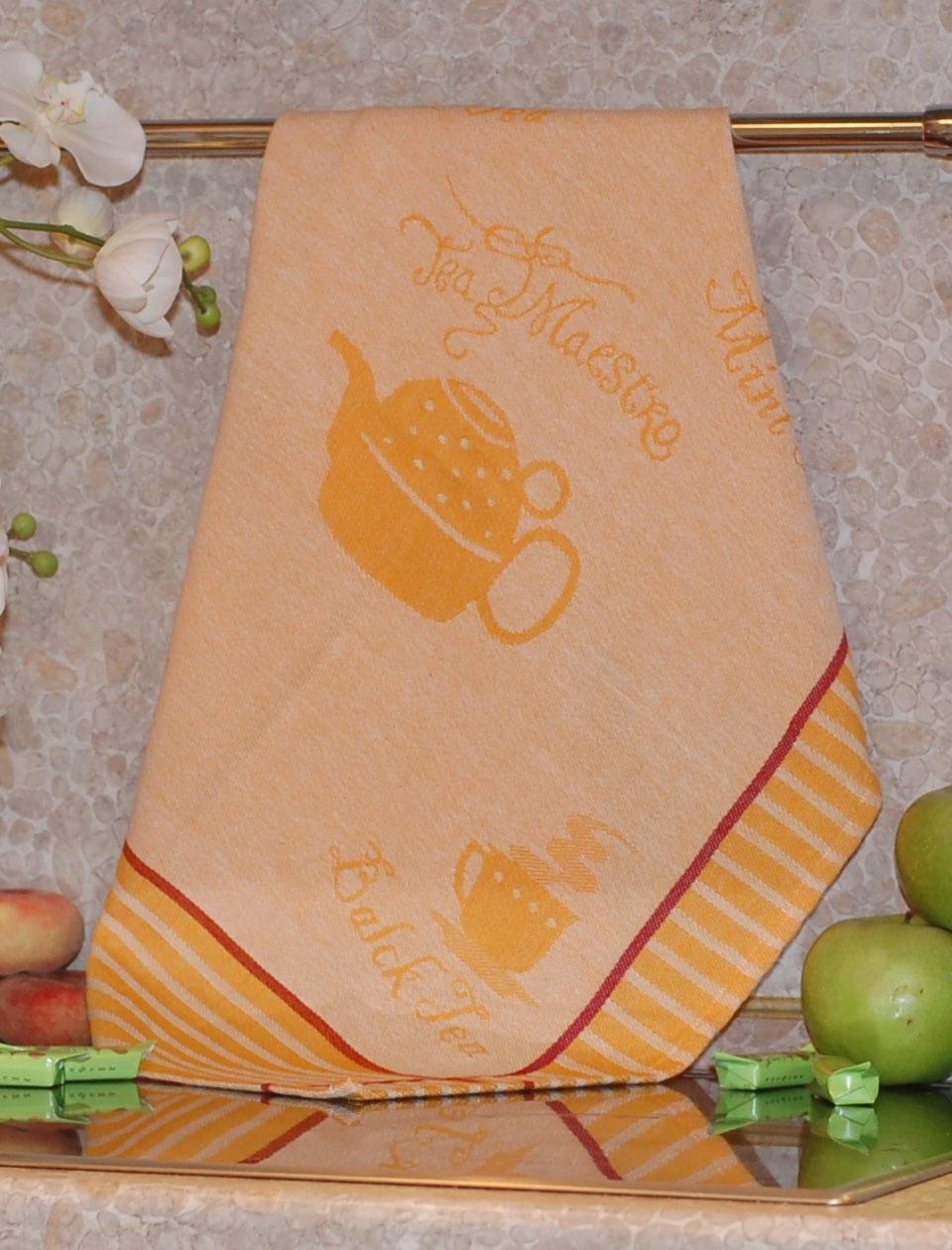 Полотенце жаккардовое ТекСтиль 507061-4 TEA MAESTRO полотенце кухонное текстиль для дома 507061 1 cafе коричневый бежевый красный