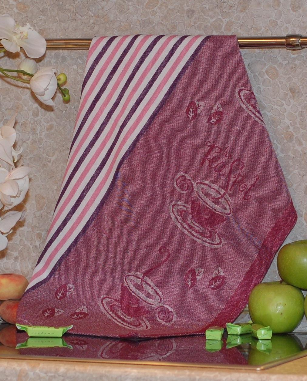 Полотенце жаккардовое ТекСтиль 507061-5 TEA SPOT полотенце кухонное текстиль для дома 507061 1 cafе коричневый бежевый красный