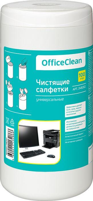Салфетки чистящие влажные OfficeClean, универсальные, 248262, 100 шт