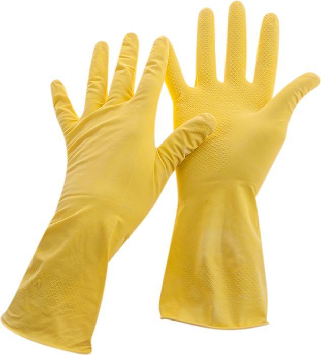 Перчатки хозяйственные OfficeClean Стандарт+, 257666, желтый, размер L, 12 шт