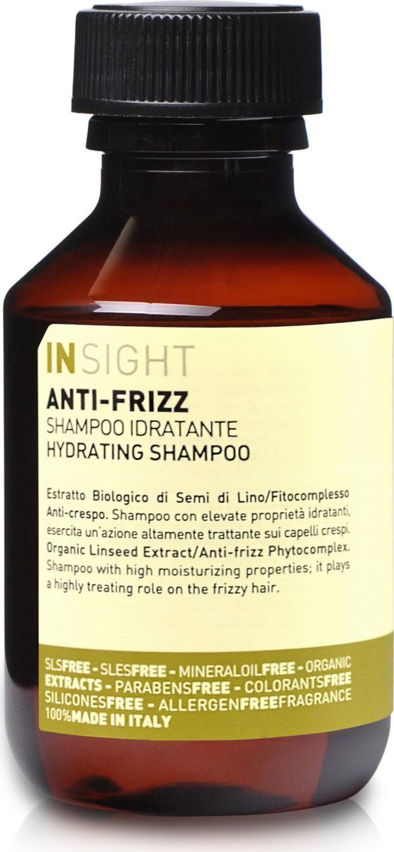 Разглаживающий шампунь для непослушных волос Insight Anti-Frizz, 100 мл