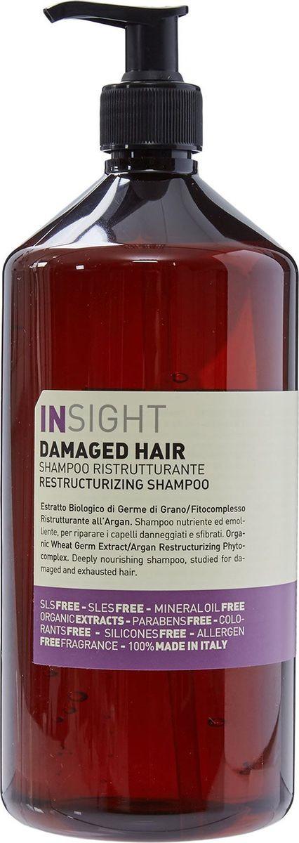 Шампунь для поврежденных волос Insight Damaged Hair, 900 мл insight шампунь для поврежденных волос 900 мл