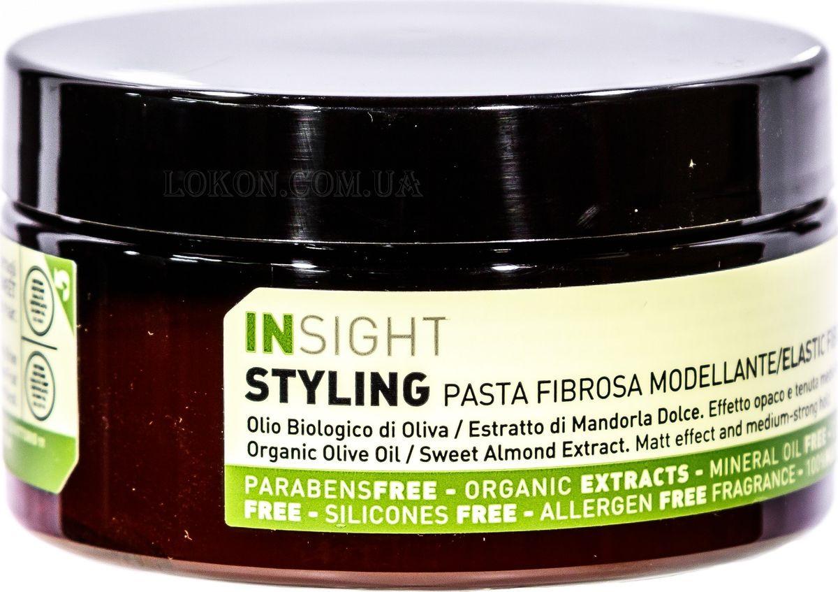 Моделирующая паста Insight Styling Elastic Fibre Paste, средней фиксации, 90 мл моделирующая паста