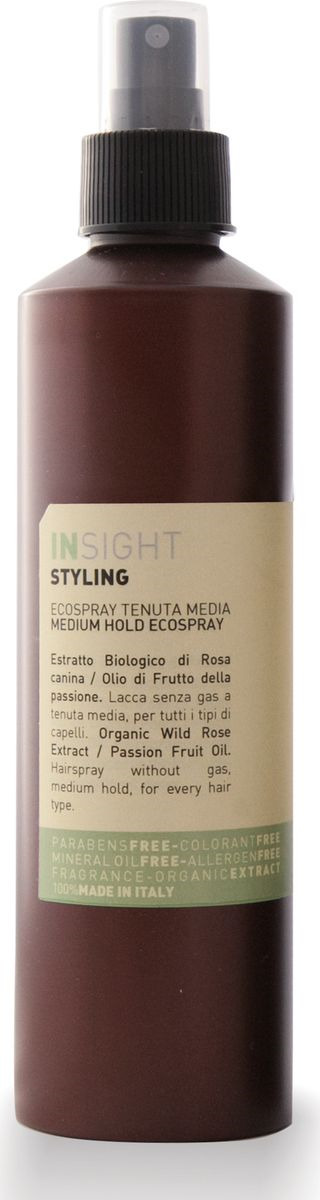 Лак для волос Insight Styling Medium Hold Ecospray, средней фиксации, с хлопковым маслом, 250 мл paul mitchell лак для волос средней фиксации super clean spray 300 мл