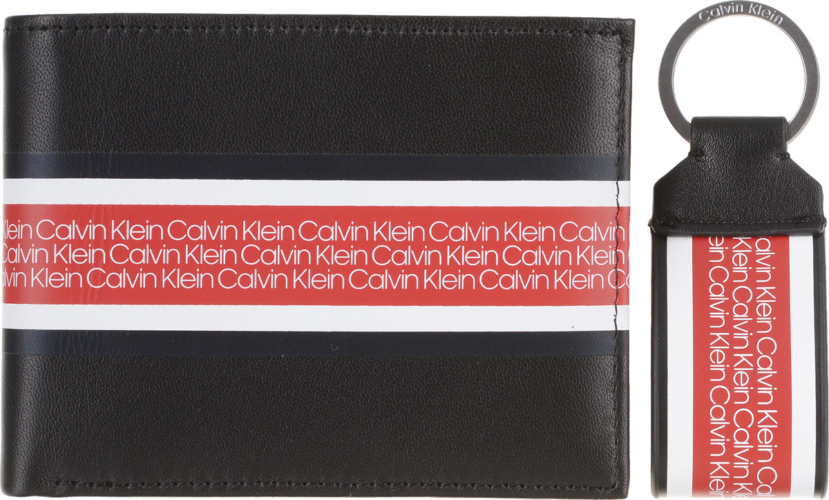 купить Кошелек мужской Calvin Klein Jeans, K50K504332, черный по цене 8000 рублей