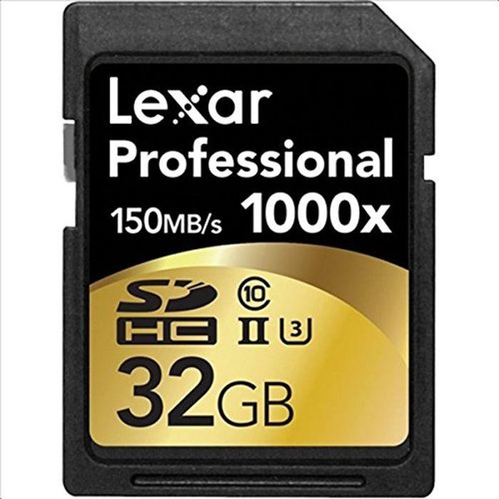 Карта памяти Lexar SDHC 32GB Class10 UHS-II 1000x