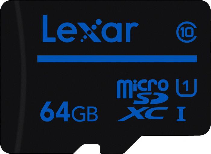 Карта памяти Lexar microSDXC 64GB Class10 UHS-I без адаптера micro sd lexar