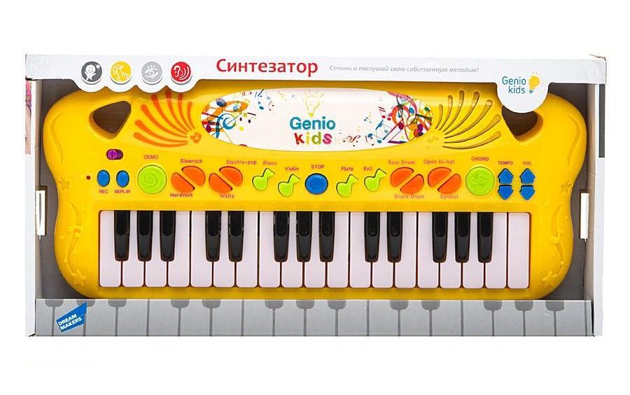 цена Детский музыкальный инструмент Genio Kids PK25 желтый онлайн в 2017 году
