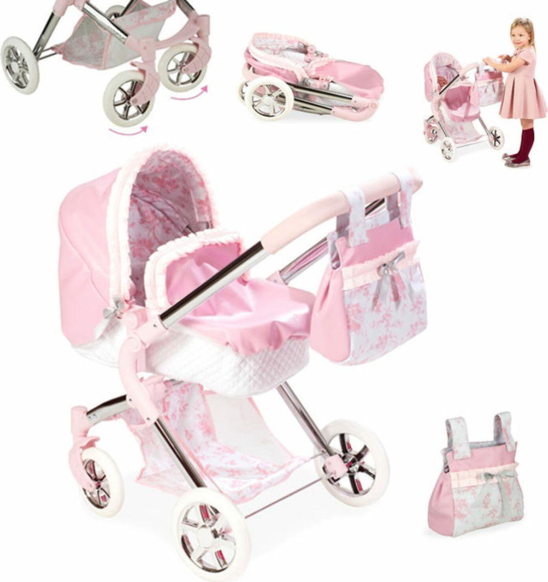 Аксессуар для кукол Arias Valentina Коляска-люлька, с сумкой, Т13756 кресло – коляска amrus для инвалидов amrw18p el p