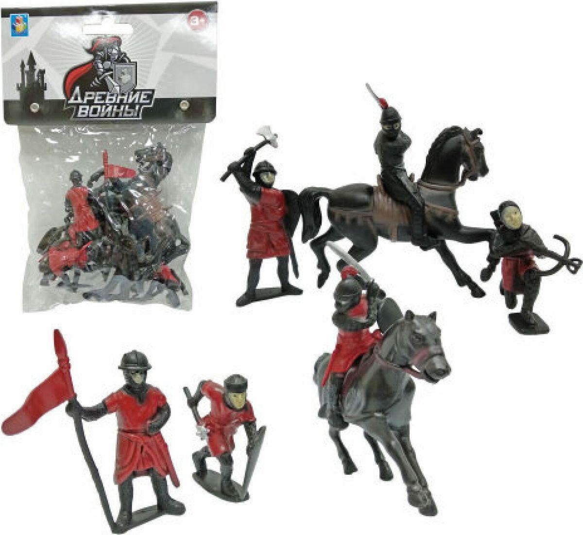 Игровой набор 1TOY Древние войны Рыцари, Т10495, 8 шт игровые наборы 1toy игровой набор красотка с феном расческа зеркало заколки аксессуары