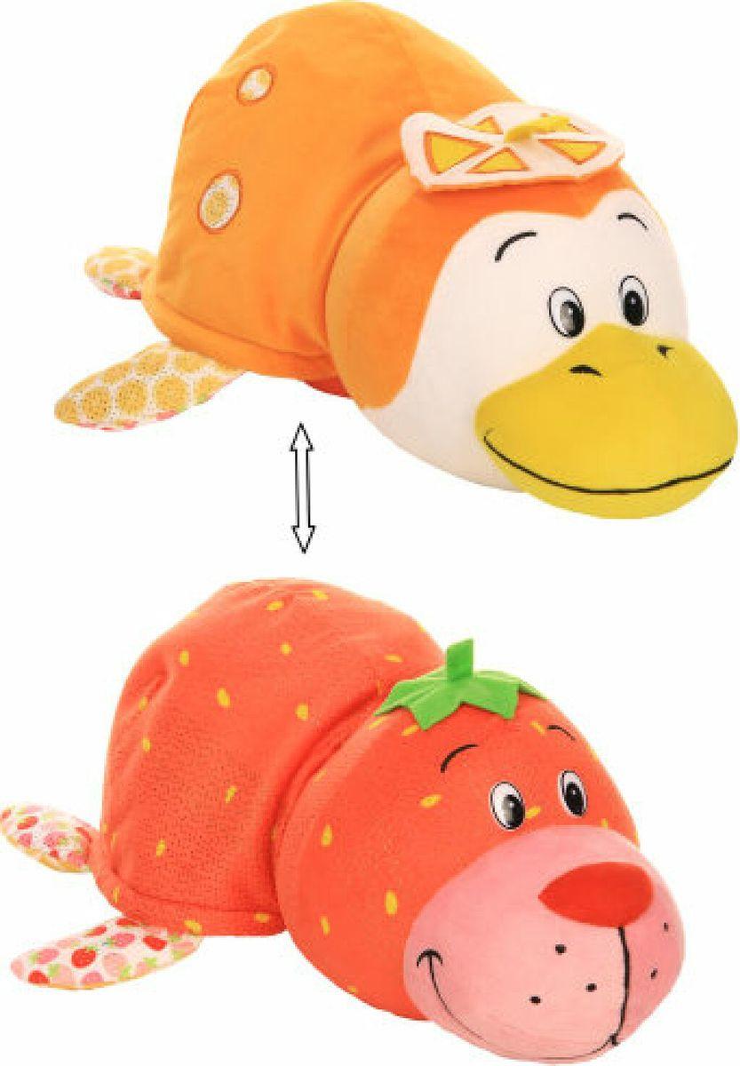 Мягкая игрушка 1TOY Вывернушка Ням-Ням 2 в 1 Морской котик, с ароматом клубники - Пингвинчик, с ароматом апельсиновой газировки, Т13922, 40 см мягкая игрушка вывернушка ням ням 2в1 морской котик пингвинчик с ароматом 12 см
