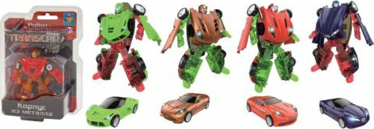 Робот 1TOY Transcar Mini, Т12063 город игр робот трансформер спорткар