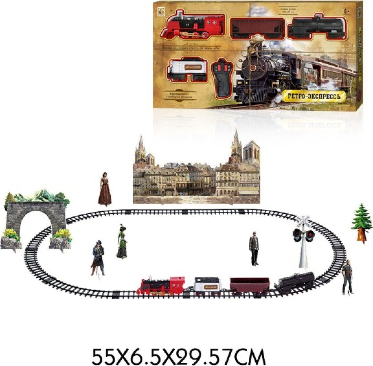 Железная дорога 1TOY Ретро Экспресс Паровоз и 3 вагона, Т10578 цена