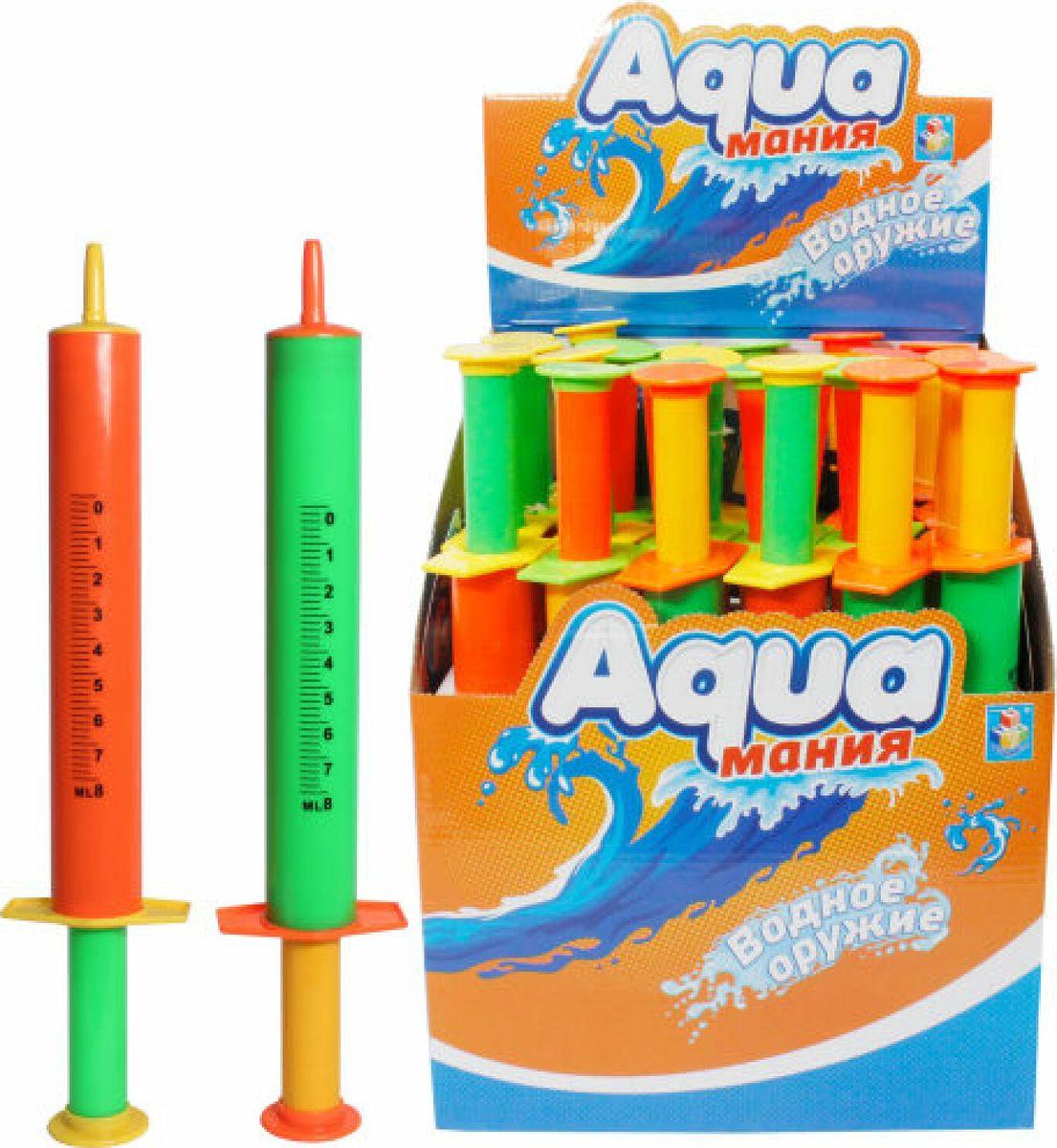 лучшая цена Игрушечное оружие 1TOY Аквамания Водяной шприц, помповый, Т59450, 33 х 7 х 4 см