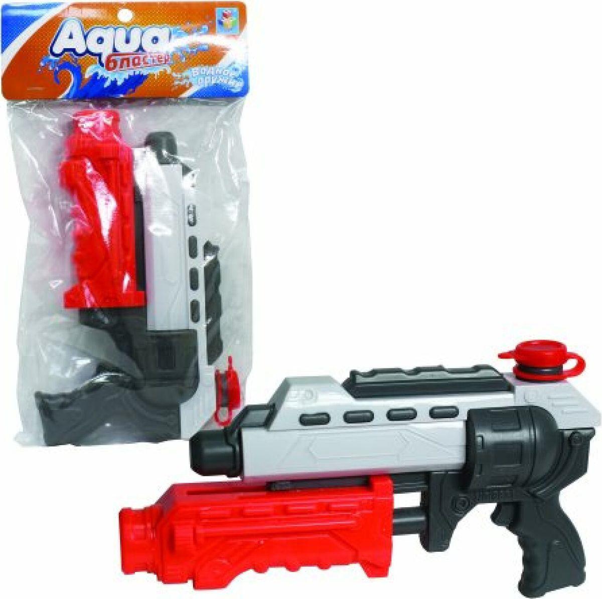 Игрушечное оружие 1TOY Аквамания Водяной пистолет, помповый, Т59454, 32 см