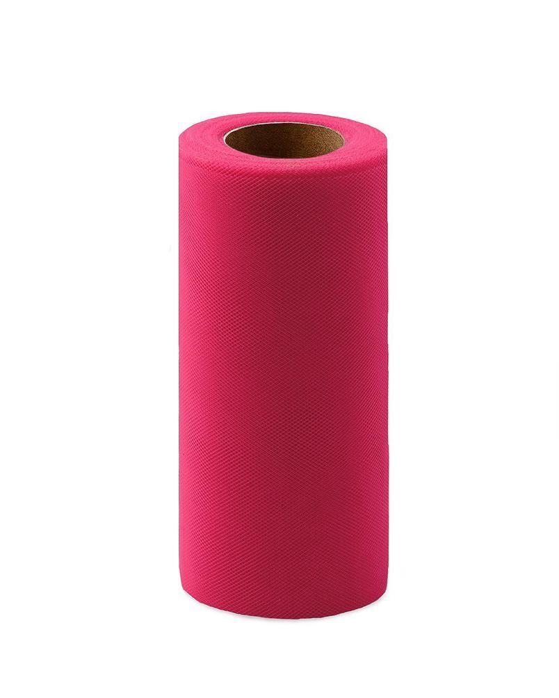 Фото - Ткань Caramelkalife Фатин средней жесткости в шпульке. Цвет Фуксия. балдахины для кроваток pituso универсальный фатин