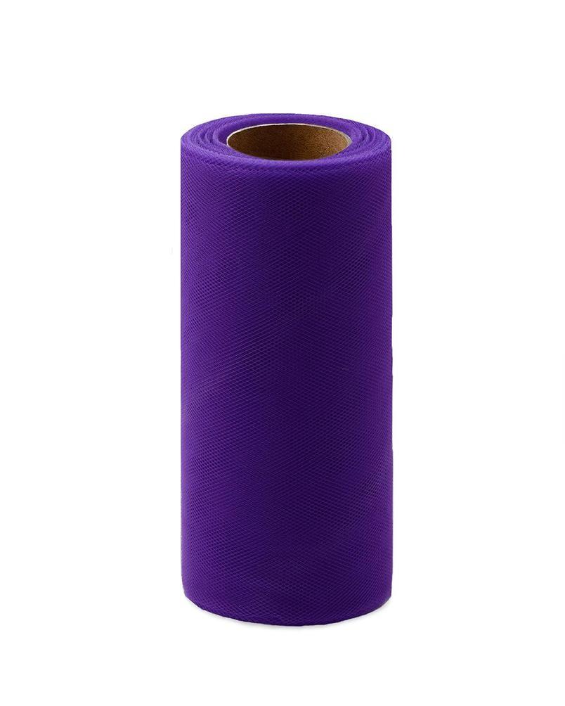 Фото - Ткань Caramelkalife Фатин средней жесткости в шпульке. Цвет Черничный. балдахины для кроваток pituso универсальный фатин