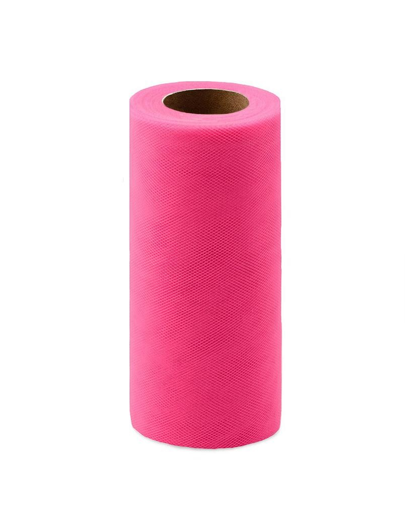 Фото - Ткань Caramelkalife Фатин средней жесткости в шпульке. Цвет Ярко-розовый. балдахины для кроваток pituso универсальный фатин