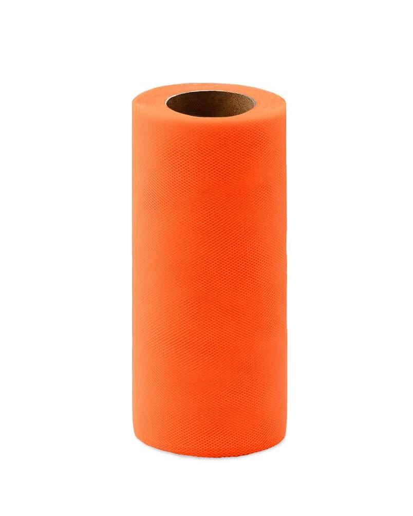 Фото - Ткань Caramelkalife Фатин средней жесткости в шпульке. Цвет Оранжевый. балдахины для кроваток pituso универсальный фатин