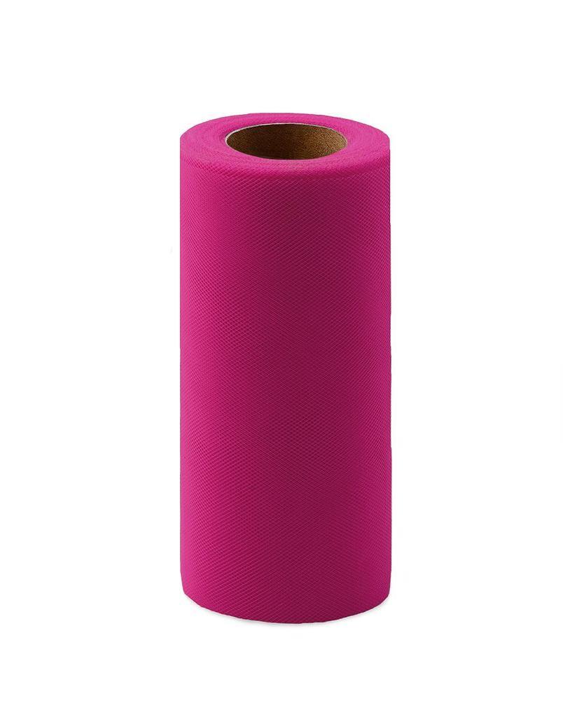 Фото - Ткань Caramelkalife Фатин средней жесткости в шпульке. Цвет Розовый (Барби) балдахины для кроваток pituso универсальный фатин
