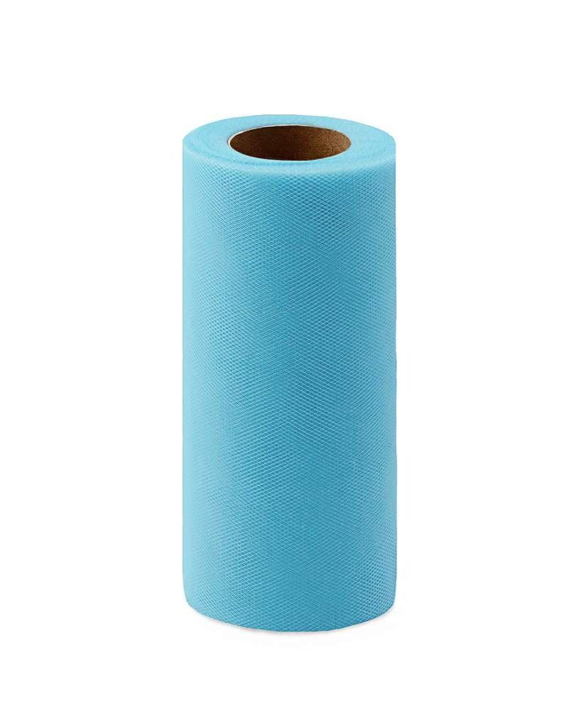 Фото - Ткань Caramelkalife Фатин средней жесткости в шпульке. Цвет Голубой балдахины для кроваток pituso универсальный фатин