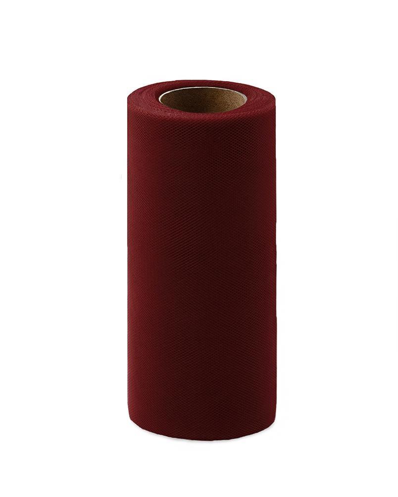 Фото - Ткань Caramelkalife Фатин средней жесткости в шпульке. Цвет Бордовый. балдахины для кроваток pituso универсальный фатин