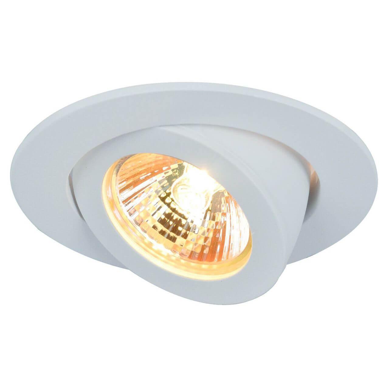Встраиваемый светильник Arte Lamp A4009PL-1WH, белый встраиваемый светильник arte lamp accento a4009pl 1wh