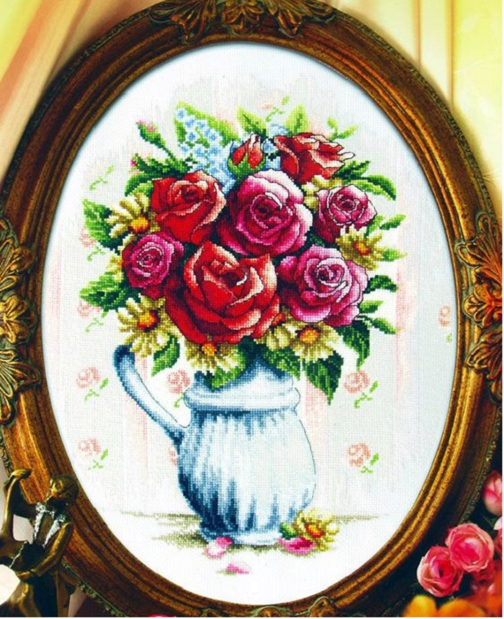 Набор для вышивания DOME Showy blue vase